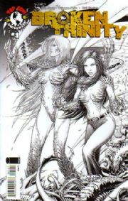 Broken Trinity #1 Ross Sketch Variant Cover C (2008) Witchblade Darkness Top Cow comic book